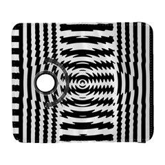 Black And White Abstract Stripped Geometric Background Galaxy S3 (Flip/Folio)