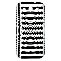 Black And White Abstract Stripped Geometric Background Samsung Galaxy S3 S Iii Classic Hardshell Back Case