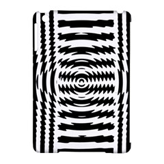 Black And White Abstract Stripped Geometric Background Apple Ipad Mini Hardshell Case (compatible With Smart Cover)