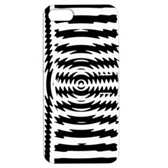 Black And White Abstract Stripped Geometric Background Apple iPhone 5 Hardshell Case with Stand