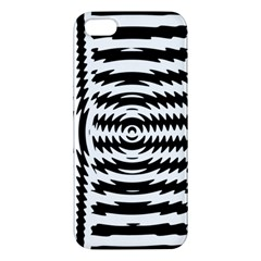 Black And White Abstract Stripped Geometric Background Apple iPhone 5 Premium Hardshell Case