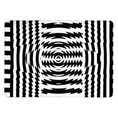 Black And White Abstract Stripped Geometric Background Samsung Galaxy Tab 10 1  P7500 Flip Case