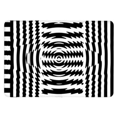 Black And White Abstract Stripped Geometric Background Samsung Galaxy Tab 8 9  P7300 Flip Case