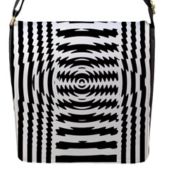 Black And White Abstract Stripped Geometric Background Flap Messenger Bag (s)