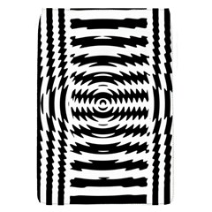 Black And White Abstract Stripped Geometric Background Flap Covers (S)