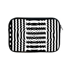 Black And White Abstract Stripped Geometric Background Apple iPad Mini Zipper Cases