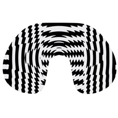 Black And White Abstract Stripped Geometric Background Travel Neck Pillows