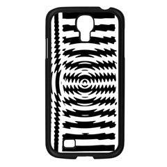 Black And White Abstract Stripped Geometric Background Samsung Galaxy S4 I9500/ I9505 Case (black)