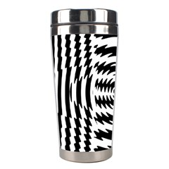 Black And White Abstract Stripped Geometric Background Stainless Steel Travel Tumblers
