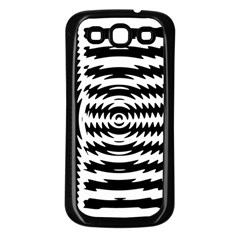 Black And White Abstract Stripped Geometric Background Samsung Galaxy S3 Back Case (Black)