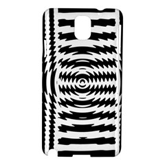 Black And White Abstract Stripped Geometric Background Samsung Galaxy Note 3 N9005 Hardshell Case