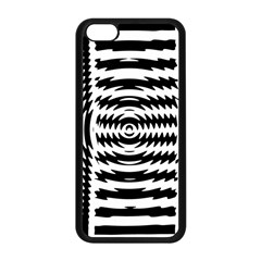 Black And White Abstract Stripped Geometric Background Apple Iphone 5c Seamless Case (black)