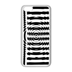 Black And White Abstract Stripped Geometric Background Apple Iphone 5c Seamless Case (white)