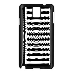 Black And White Abstract Stripped Geometric Background Samsung Galaxy Note 3 N9005 Case (black)