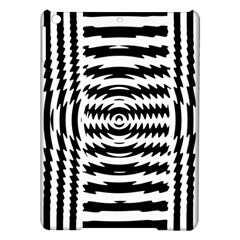 Black And White Abstract Stripped Geometric Background iPad Air Hardshell Cases