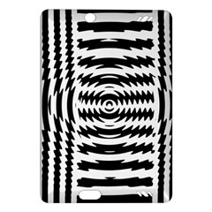 Black And White Abstract Stripped Geometric Background Amazon Kindle Fire HD (2013) Hardshell Case