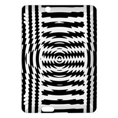 Black And White Abstract Stripped Geometric Background Kindle Fire Hdx Hardshell Case