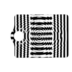 Black And White Abstract Stripped Geometric Background Kindle Fire HD (2013) Flip 360 Case