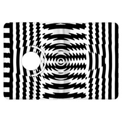 Black And White Abstract Stripped Geometric Background Kindle Fire HDX Flip 360 Case