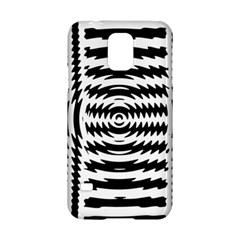 Black And White Abstract Stripped Geometric Background Samsung Galaxy S5 Hardshell Case