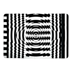 Black And White Abstract Stripped Geometric Background Samsung Galaxy Tab Pro 10.1  Flip Case