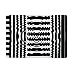 Black And White Abstract Stripped Geometric Background iPad Mini 2 Flip Cases