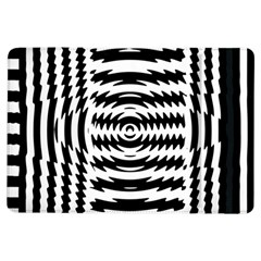 Black And White Abstract Stripped Geometric Background Ipad Air Flip