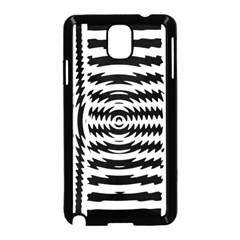 Black And White Abstract Stripped Geometric Background Samsung Galaxy Note 3 Neo Hardshell Case (Black)