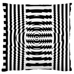 Black And White Abstract Stripped Geometric Background Large Flano Cushion Case (one Side)