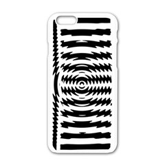 Black And White Abstract Stripped Geometric Background Apple Iphone 6/6s White Enamel Case