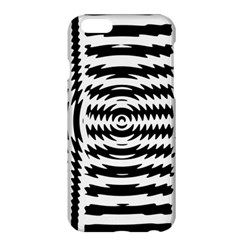 Black And White Abstract Stripped Geometric Background Apple iPhone 6 Plus/6S Plus Hardshell Case