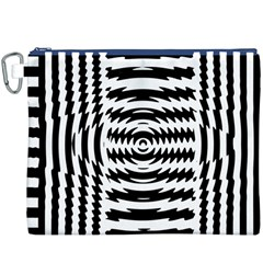 Black And White Abstract Stripped Geometric Background Canvas Cosmetic Bag (XXXL)