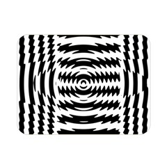 Black And White Abstract Stripped Geometric Background Double Sided Flano Blanket (Mini)