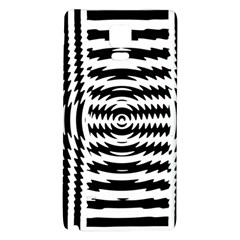 Black And White Abstract Stripped Geometric Background Galaxy Note 4 Back Case