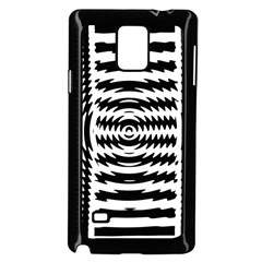 Black And White Abstract Stripped Geometric Background Samsung Galaxy Note 4 Case (Black)