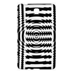 Black And White Abstract Stripped Geometric Background Samsung Galaxy Tab 4 (7 ) Hardshell Case