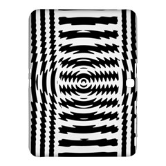Black And White Abstract Stripped Geometric Background Samsung Galaxy Tab 4 (10.1 ) Hardshell Case
