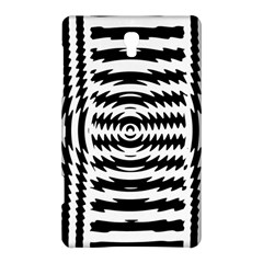 Black And White Abstract Stripped Geometric Background Samsung Galaxy Tab S (8 4 ) Hardshell Case