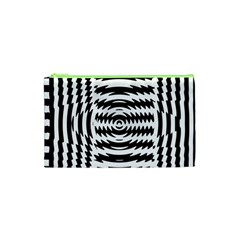 Black And White Abstract Stripped Geometric Background Cosmetic Bag (XS)