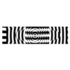 Black And White Abstract Stripped Geometric Background Satin Scarf (oblong)