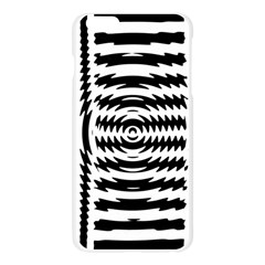Black And White Abstract Stripped Geometric Background Apple Seamless iPhone 6 Plus/6S Plus Case (Transparent)