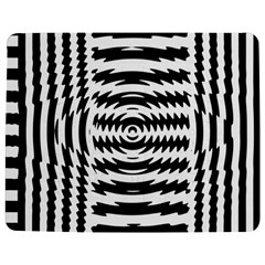 Black And White Abstract Stripped Geometric Background Jigsaw Puzzle Photo Stand (Rectangular)