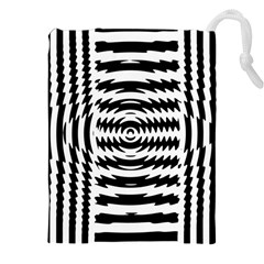 Black And White Abstract Stripped Geometric Background Drawstring Pouches (xxl)