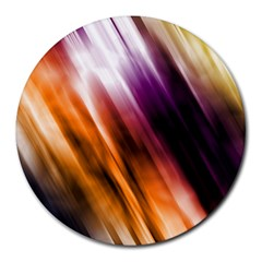 Colourful Grunge Stripe Background Round Mousepads