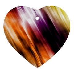 Colourful Grunge Stripe Background Ornament (heart)