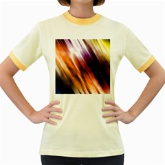 Colourful Grunge Stripe Background Women s Fitted Ringer T-Shirts