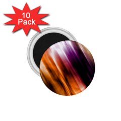 Colourful Grunge Stripe Background 1.75  Magnets (10 pack)