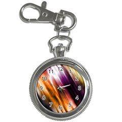 Colourful Grunge Stripe Background Key Chain Watches