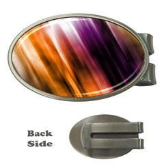 Colourful Grunge Stripe Background Money Clips (oval)