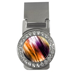 Colourful Grunge Stripe Background Money Clips (cz)